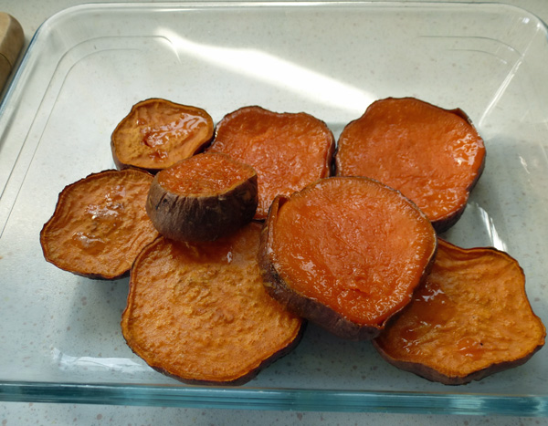Sweet potatoes in oven, with ghee, 200c for 40 minutes 1.jpg